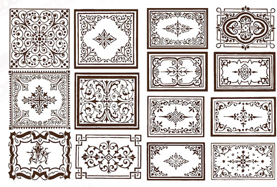 ornate border frame vector