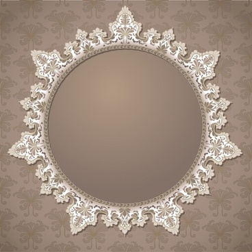 decorative background vintage symmetric seamless frame circle decor