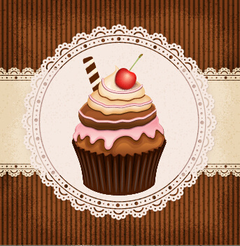ornate cakes background vector