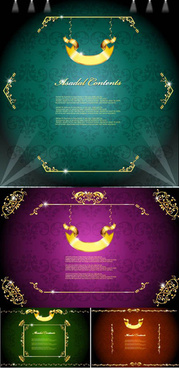 ornate classic decorative frame vector
