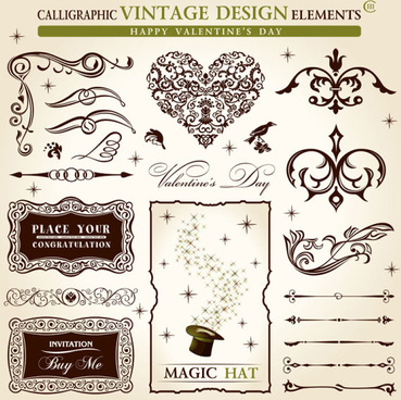 ornate classic floral vector