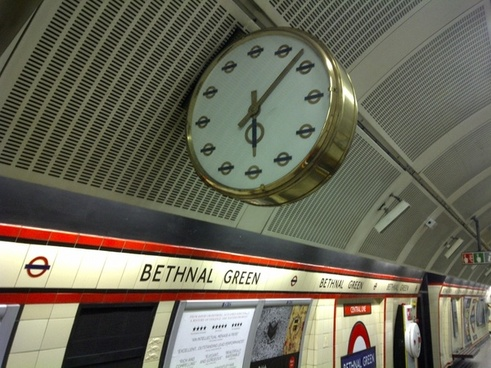 ornate clock on the underground
