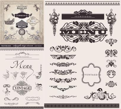 ornate decorative border vector