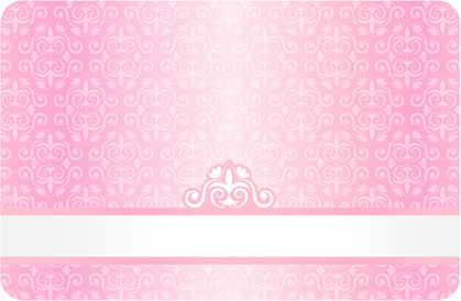ornate decorative floral card vector