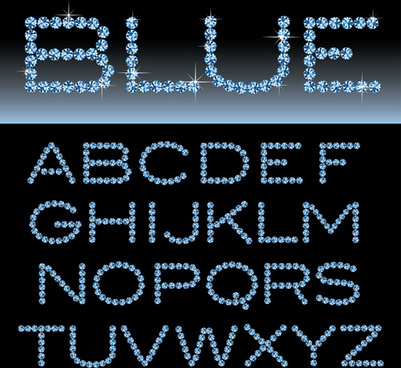 ornate diamond alphabet font vector
