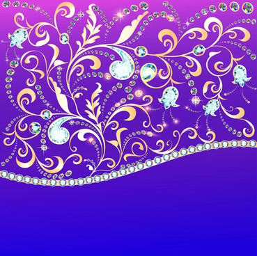 ornate diamonds art background vector