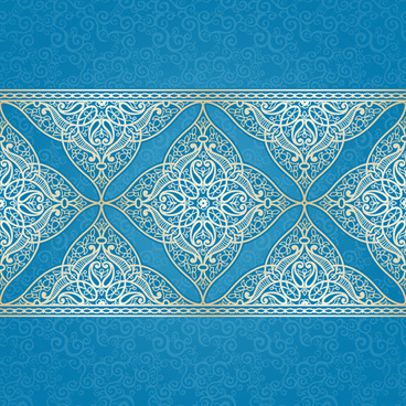 ornate eastern style floral background vector