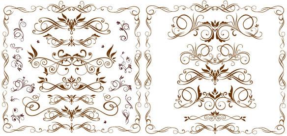 ornate fashion border vector