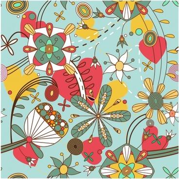ornate floral background vector illustration