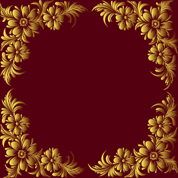 ornate floral decorative frame vectors