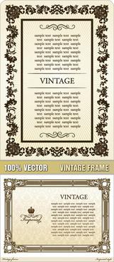 ornate floral frame 1 vector