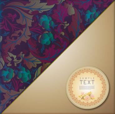 ornate floral vector background