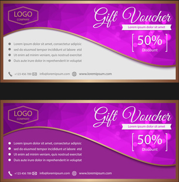 ornate gift voucher vintage template vector