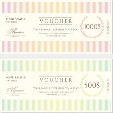 Gift Voucher Certificate Template Free Vector Download Free - Gift certificate template ai