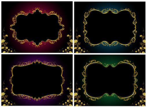 ornate gold border vector