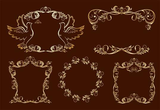 ornate gorgeous border vector