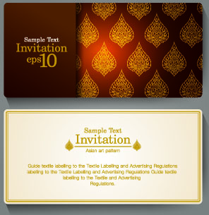 Free invitation card design free vector download 12902 free vector ornate invitation cards design vector filmwisefo