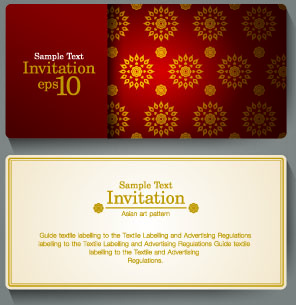 Free invitation card design free vector download 12902 free vector ornate invitation cards design vector reheart