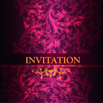 ornate invitation creative design background art