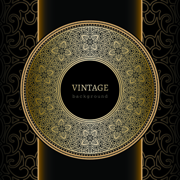 ornate lace and vintage background vector graphics
