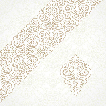 ornate oriental floral pattern vector background