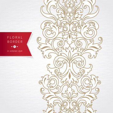 ornate oriental floral pattern vector background