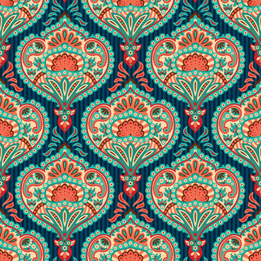 ornate paisley pattern seamless vector