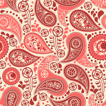 ornate paisley pattern vector