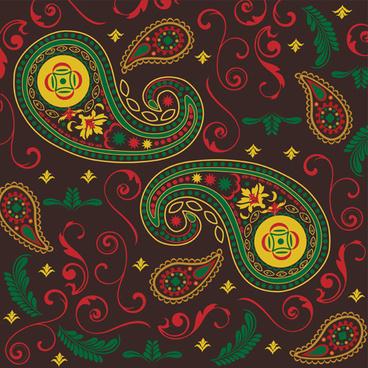ornate paisley pattern vector