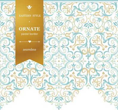 ornate pastel border seamless vector