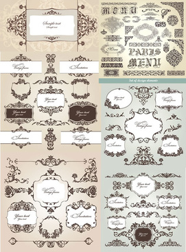 ornate pattern border vector