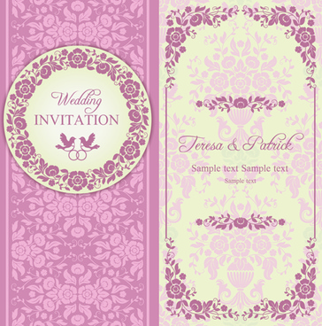 Floral wedding invitation background free vector download 50580 ornate pink floral wedding invitations vector stopboris Gallery