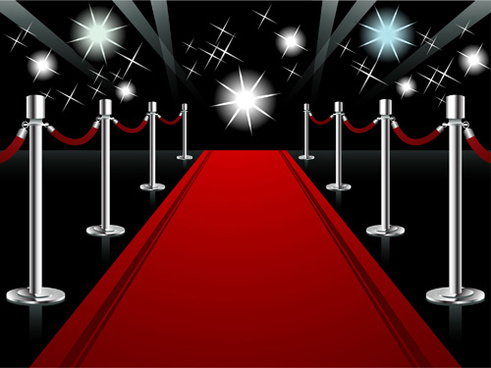 ornate red carpet backgrounds vector
