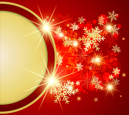 ornate red christmas backgrounds vector