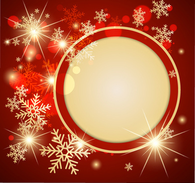 ornate red christmas backgrounds vector - Red Christmas Background