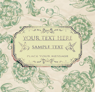 ornate retro floral background vector