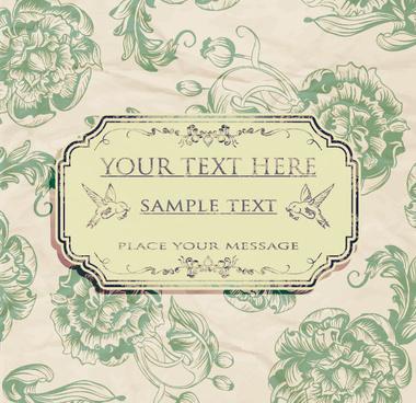 ornate retro floral background vector