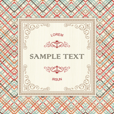 ornate retro frame background art vector