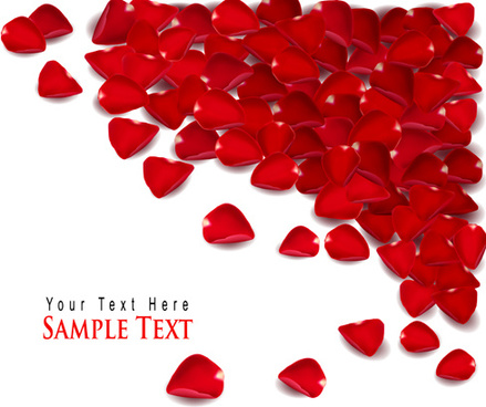 ornate valentine day art card vector
