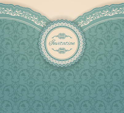 ornate vintage floral art backgrounds vector