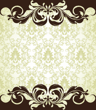 ornate vintage floral vector backgrounds art