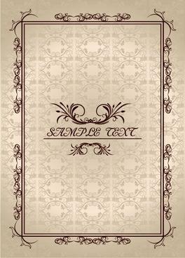 ornate vintage frame design vector