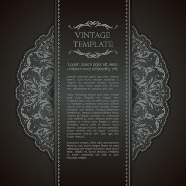 ornate vintage template background vector