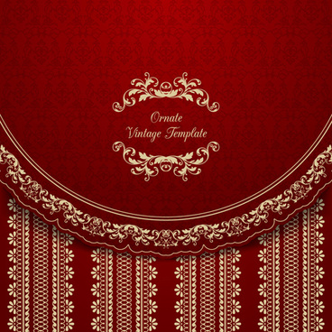 ornate vintage template background vector