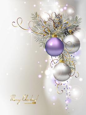 ornate xmas balls ornaments elements vector