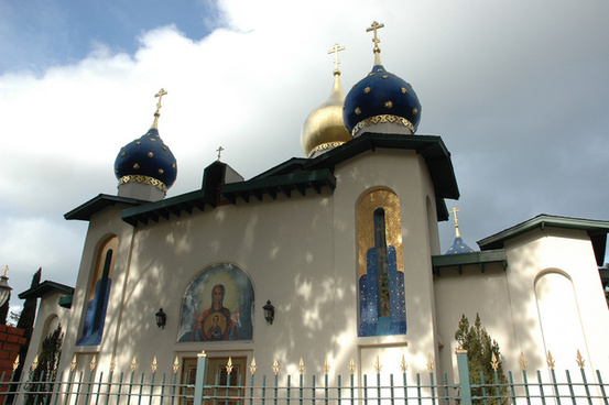 orthodox church of all russian saints from el camino real burlingame california usa