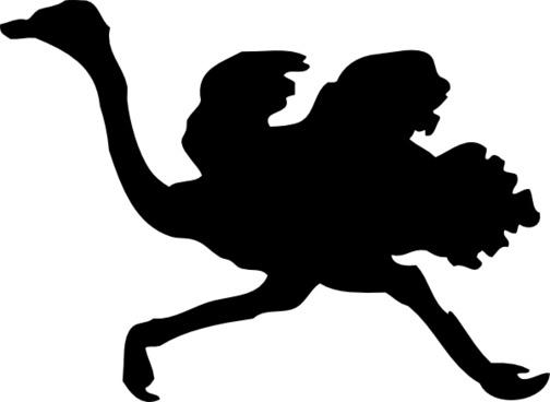 Ostrich Silhouette clip art