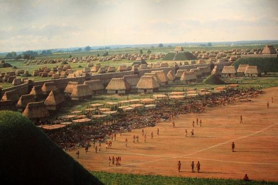 other half of cahokia at cahokia mounds illinois