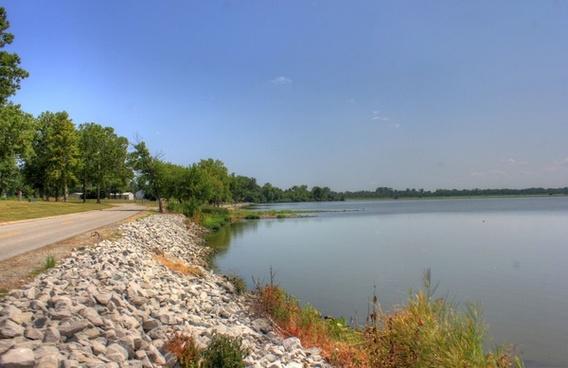 other shoreline at horseshoe lake state park illinois