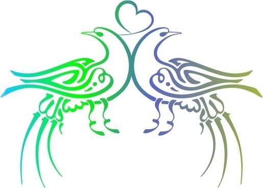 Ottoman Calligraphy - Birds (Basmala)